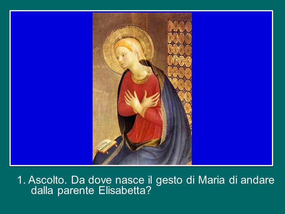 Vorrei meditare con voi questo mistero che mostra come Maria affronta il cammino della sua vita, con grande realismo, umanità, concretezza.