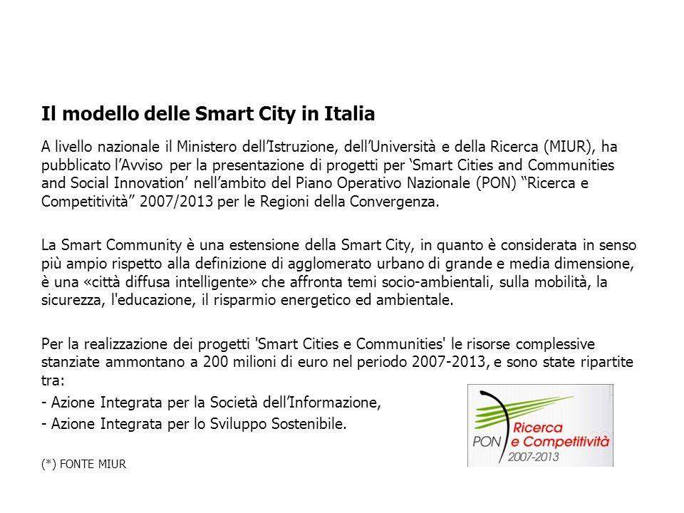 Sei criteri strategici permettono di misurare le performance di una Smart City: 1.Economia (detto anche smart-economy) 2.Mobilità (detto anche smart-m