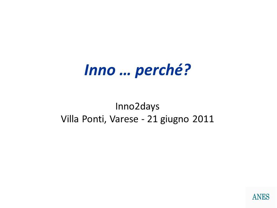Inno … perché? Inno2days Villa Ponti, Varese - 21 giugno 2011