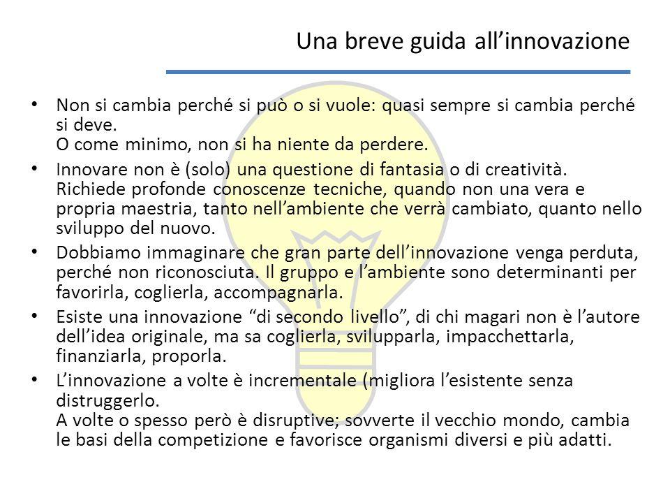 Cosa dobbiamo fare.Vogliamo innovare davvero. Cosa ci conviene fare.