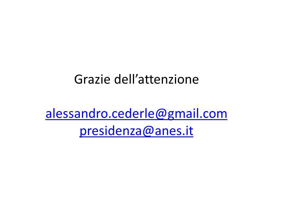 Grazie dellattenzione alessandro.cederle@gmail.com presidenza@anes.it