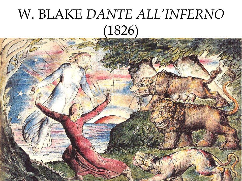 W. BLAKE DANTE ALLINFERNO (1826)
