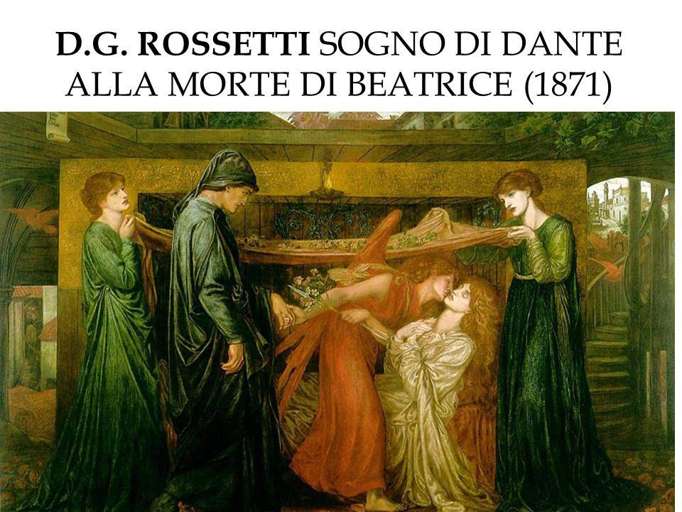 D.G. ROSSETTI SOGNO DI DANTE ALLA MORTE DI BEATRICE (1871)