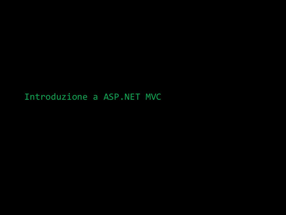 Introduzione a ASP.NET MVC