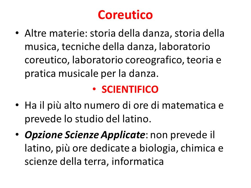 Scienze Umane Antropologia, pedagogia, psicologia e sociologia, latino, diritto ed economia.