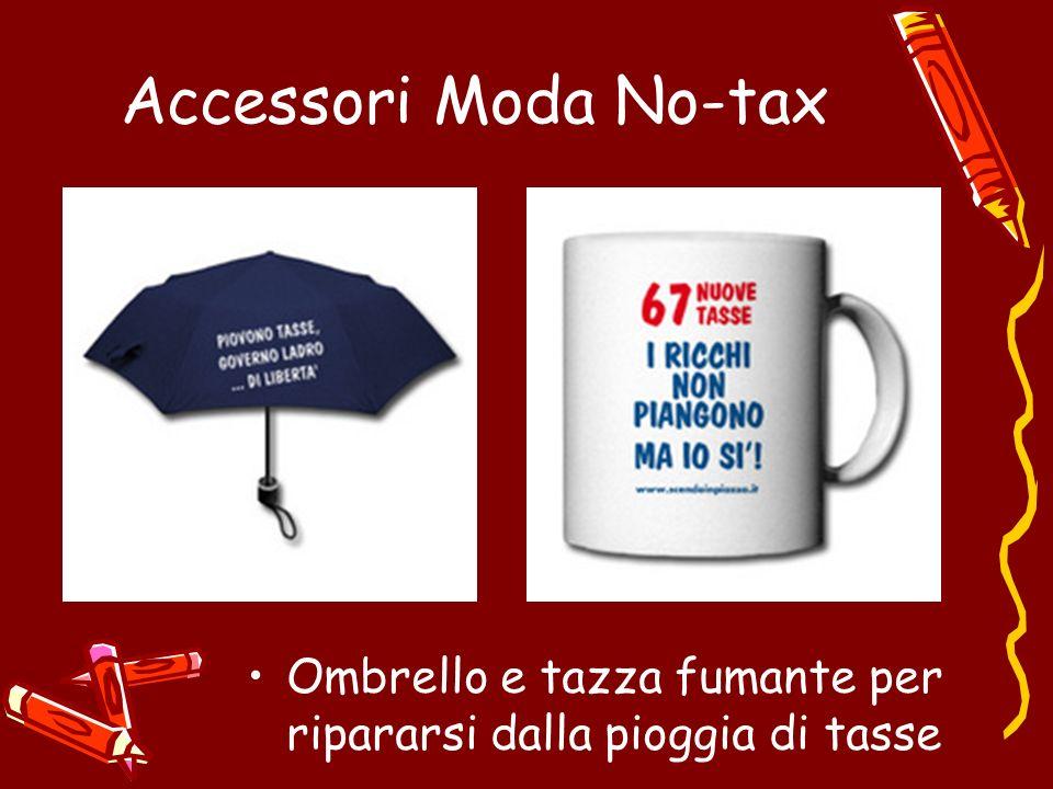 Accessori Moda No-tax Ombrello e tazza fumante per ripararsi dalla pioggia di tasse