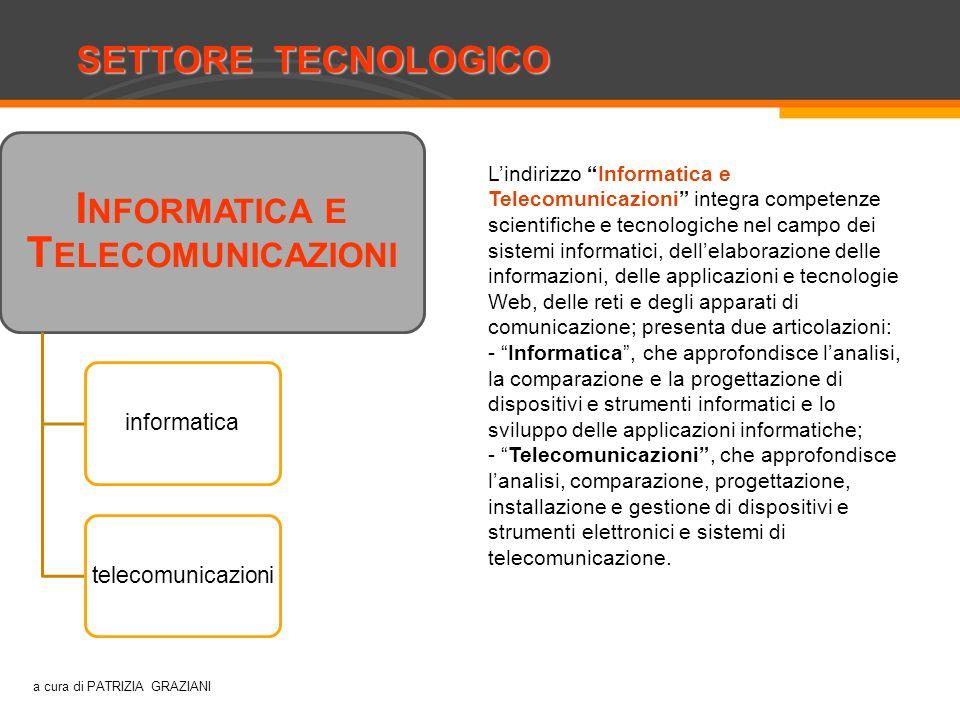 SETTORE TECNOLOGICO Costruzioni, ambiente e territorio I NFORMATICA E T ELECOMUNICAZIONI informaticatelecomunicazioni Lindirizzo Informatica e Telecom