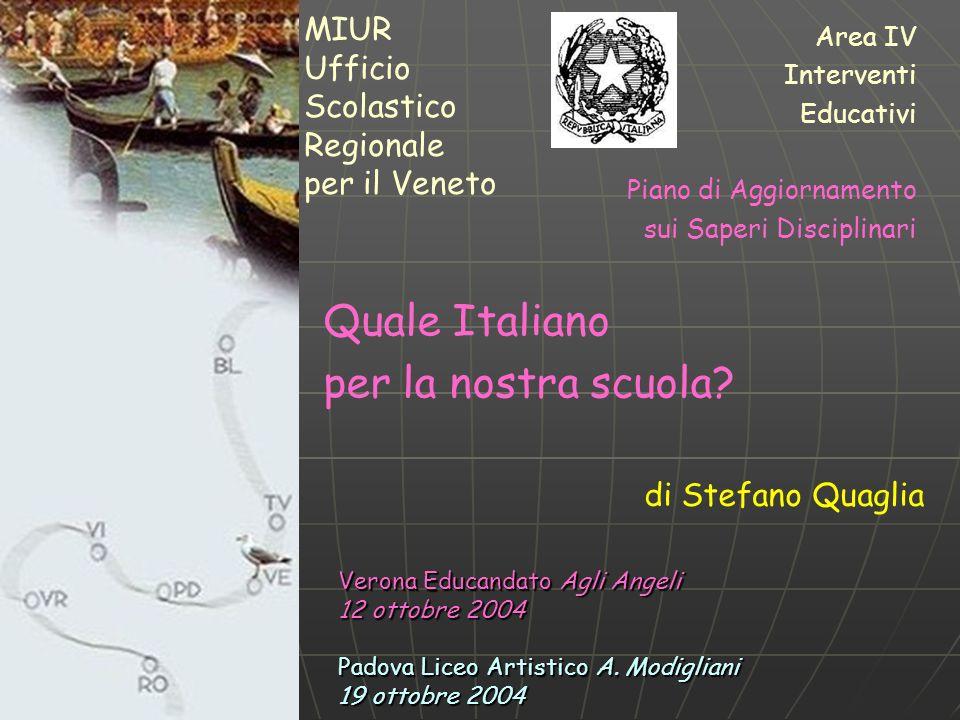 Stefano Quaglia, Quale Italiano per la nostra scuola.