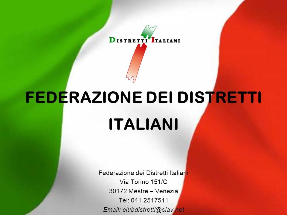 Federazione dei Distretti Italiani 2 I distretti industriali nelleconomia italiana Dati Istat 156 distretti dove risiedono 12,5 milioni abitanti