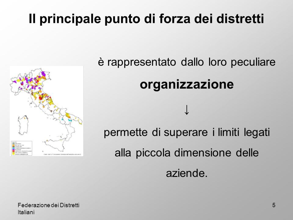Federazione dei Distretti Italiani 16 Imprese ed Occupati nei settori di specializzazione più significativi per i soci di Federazione Distretti Italiani