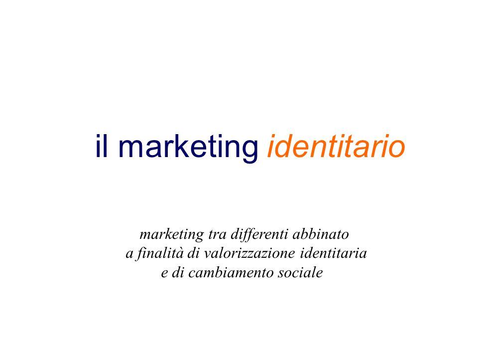 il marketing identitario marketing tra differenti abbinato a finalità di valorizzazione identitaria e di cambiamento sociale