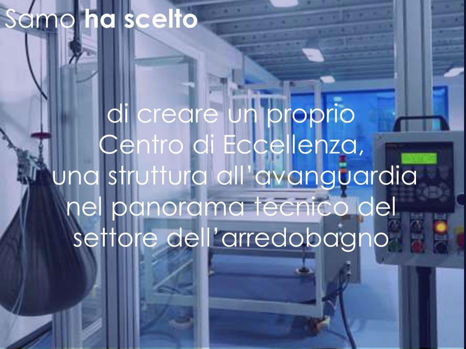 Samo ha scelto Una showroom aziendale che esalti il talento italiano attraverso un gioco di luci e quinte teatrali.