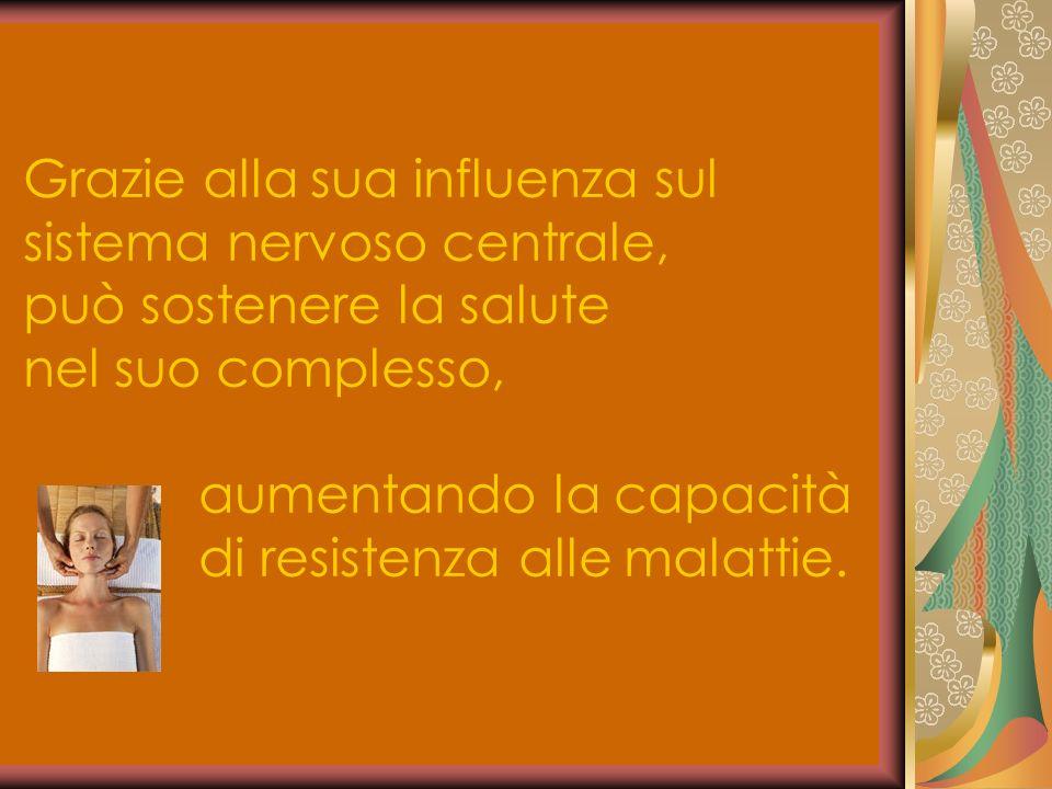 Grazie alla sua influenza sul sistema nervoso centrale, può sostenere la salute nel suo complesso, aumentando la capacità di resistenza alle malattie.