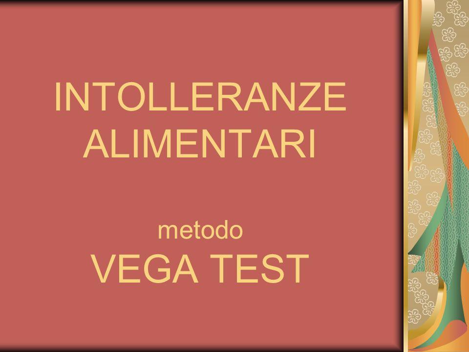 INTOLLERANZE ALIMENTARI metodo VEGA TEST