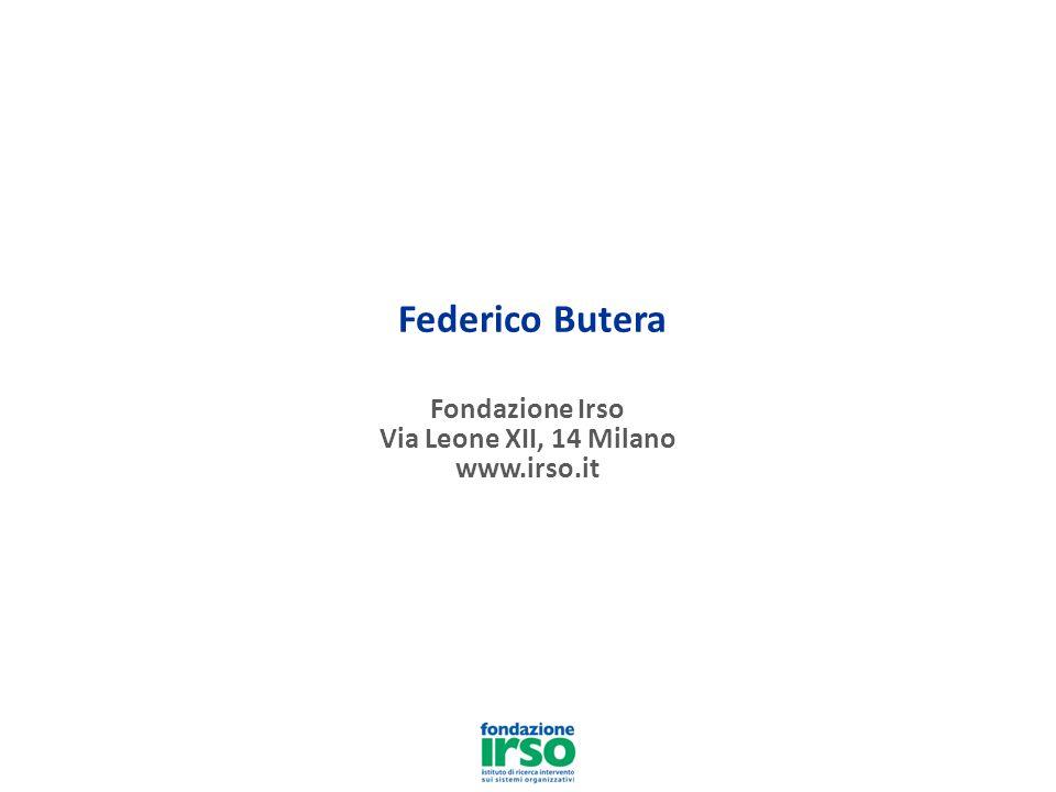 Federico Butera Fondazione Irso Via Leone XII, 14 Milano www.irso.it
