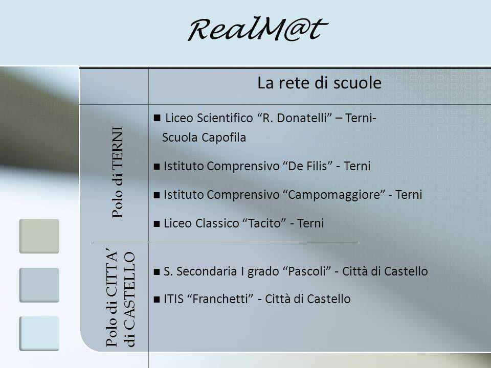 RealM@t Direzione progetto: D.S.A.