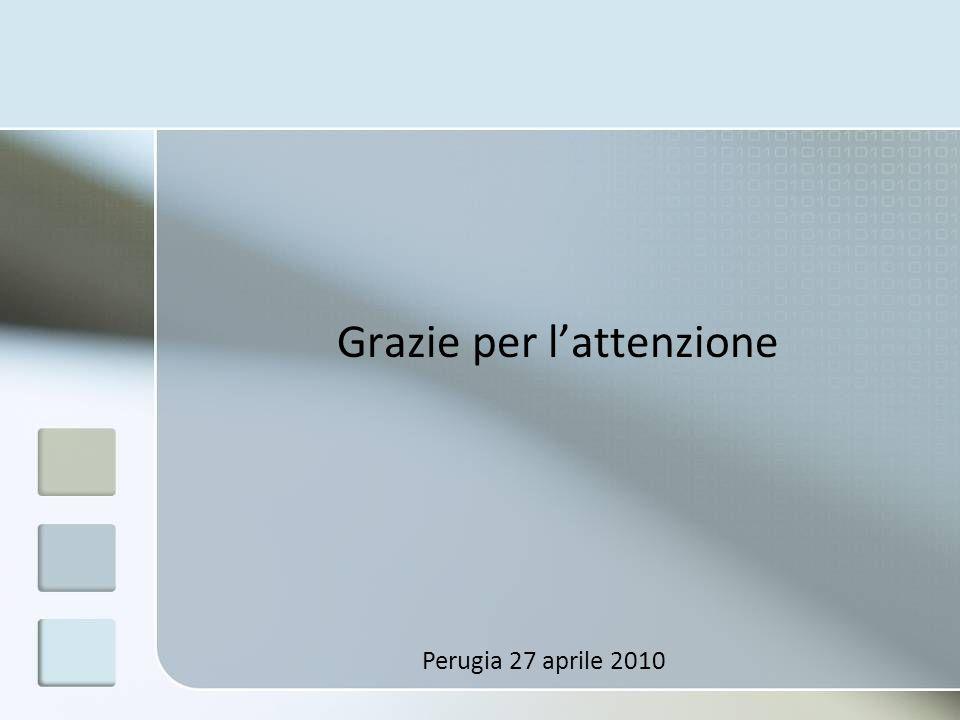 Grazie per lattenzione Perugia 27 aprile 2010