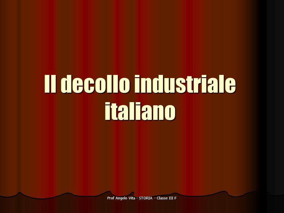 Prof Angelo Vita - STORIA - Classe III F Il decollo industriale italiano