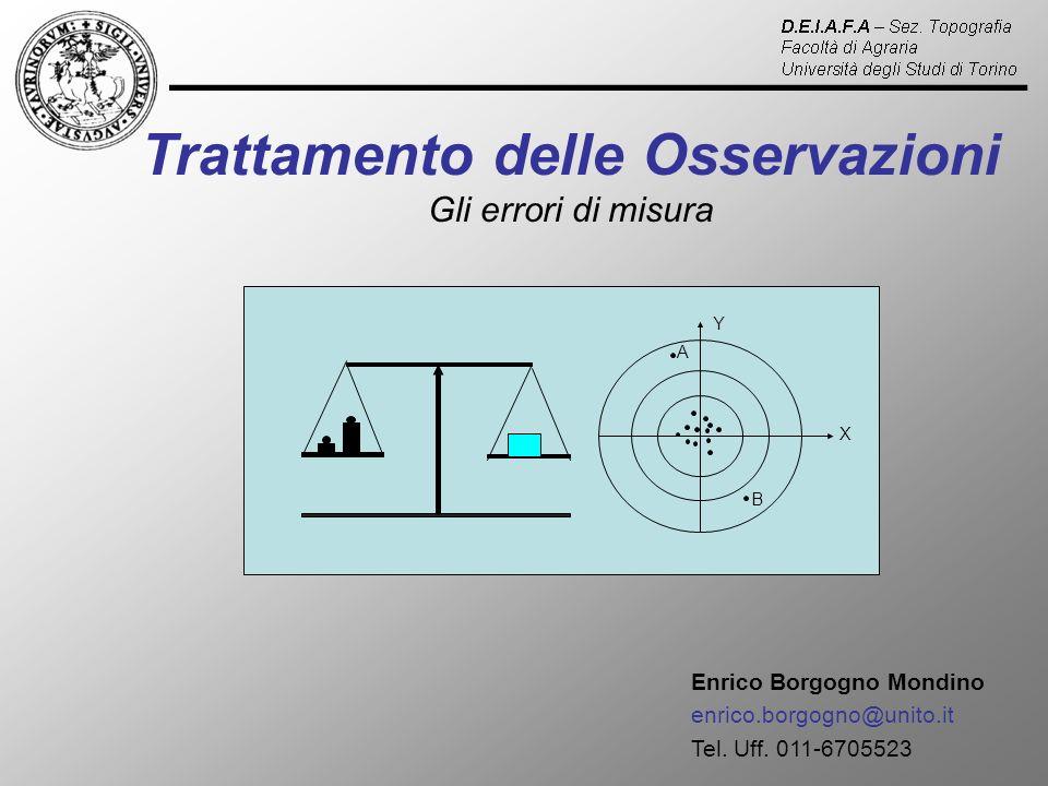 MISURE DIRETTE DI DIVERSA PRECISIONE (misura di una grandezza fatta con strumenti di diversa precisione) Media stimata 1 2 Y X O1O1 m O2O2 m Y X 2 2 OnOn m Y X n 2...............