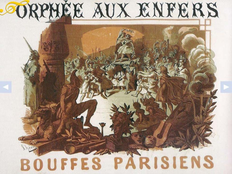 Orfeo allinferno Operetta in due atti su libretto di Hector Crémieux e Ludovic Halévy. Prima rappresentazione: 21 ottobre 1858, Parigi, Teatro Bouffes