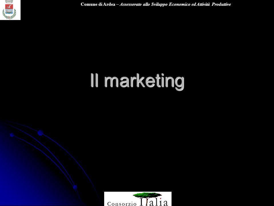 Comune di Ardea – Assessorato allo Sviluppo Economico ed Attività Produttive Il marketing