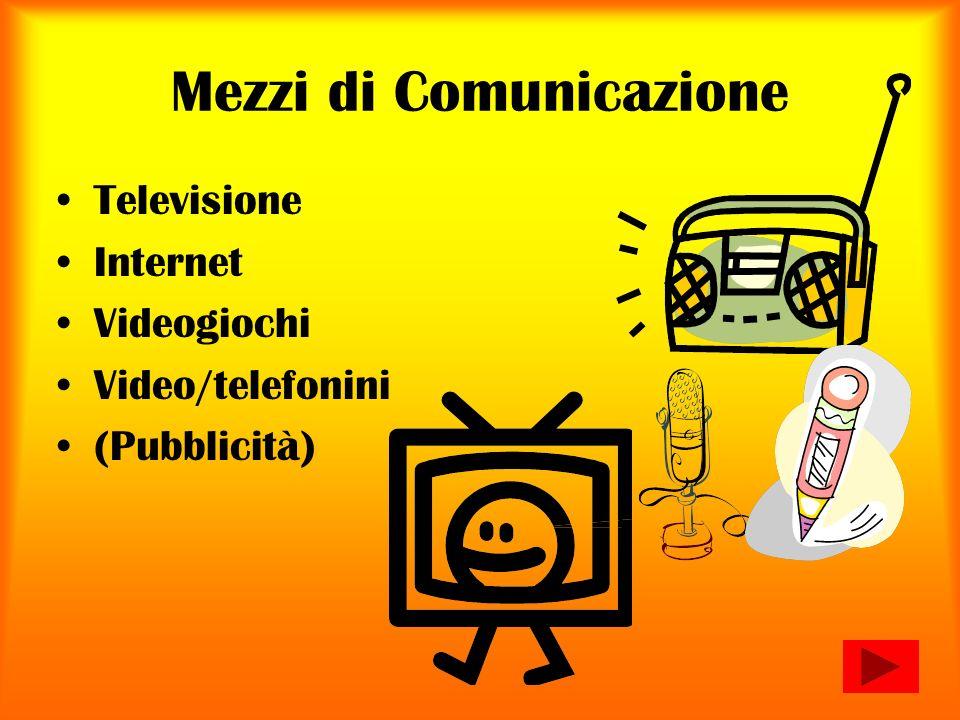 Mezzi di Comunicazione Televisione Internet Videogiochi Video/telefonini (Pubblicità)