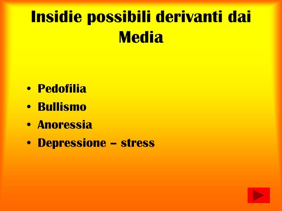 Insidie possibili derivanti dai Media Pedofilia Bullismo Anoressia Depressione – stress