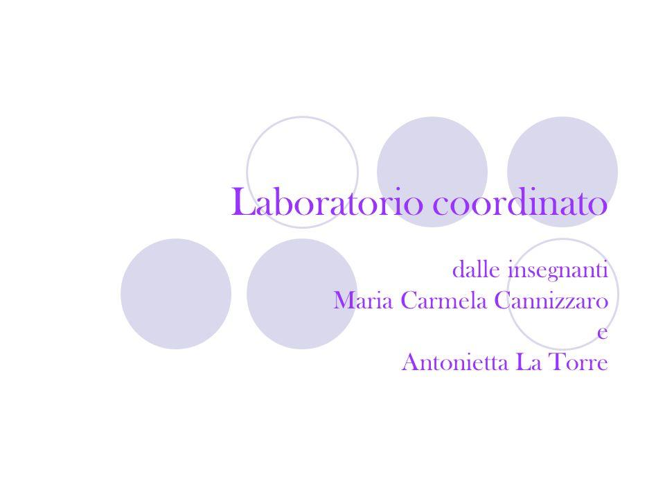 Laboratorio coordinato dalle insegnanti Maria Carmela Cannizzaro e Antonietta La Torre