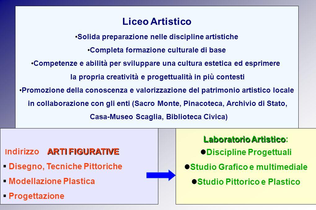 Solida preparazione nelle discipline artistiche Completa formazione culturale di base Competenze e abilità per sviluppare una cultura estetica ed espr