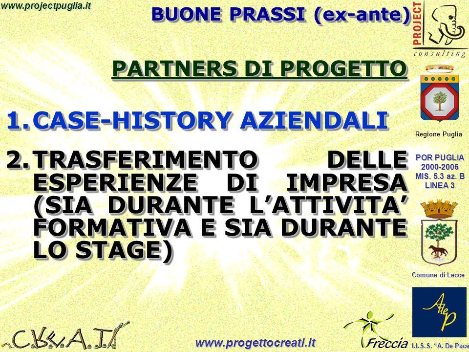 Regione Puglia POR PUGLIA 2000-2006 MIS. 5.3 az. B LINEA 3 Comune di Lecce I.I.S.S.