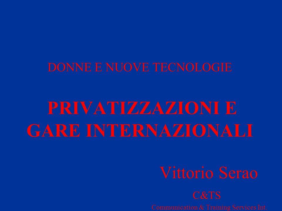 3.2 BANDO DI GARA (I) IL PROCEDIMENTO DI GARA PRENDE AVVIO FORMALMENTE CON LA PUBBLICAZIONE (SULLA GU LOCALE) DEL BANDO DI GARA NEL QUALE VENGO INDICATI TERMINI E CONDIZIONI DELLA GARA STESSA IN PARTICOLARE, TRA LALTRO: -REQUISITI SOGGETTIVI PER LA PARTECIPAZIONE ALLA GARA - TERMINI E CONDIZIONI DI PREQUALIFICA -TERMINI E CONDIZIONI PER LA PRESENTAZIONE DELLOFFERTA (TALVOLTA IN 2 TEMPI: OFFERTA PRELIMINARE, OFFERTA DEFINITIVA) -EVENTUALE FORMAZIONE DI UNA SHORT LIST (CON ELIMINAZIONE DI ALCUNI PARTECIPANTI, SULLA BASE DELLOFFERTA PRELIMINARE) -PREZZO MINIMO DI OFFERTA - CRITERI DI AGGIUDICAZIONE
