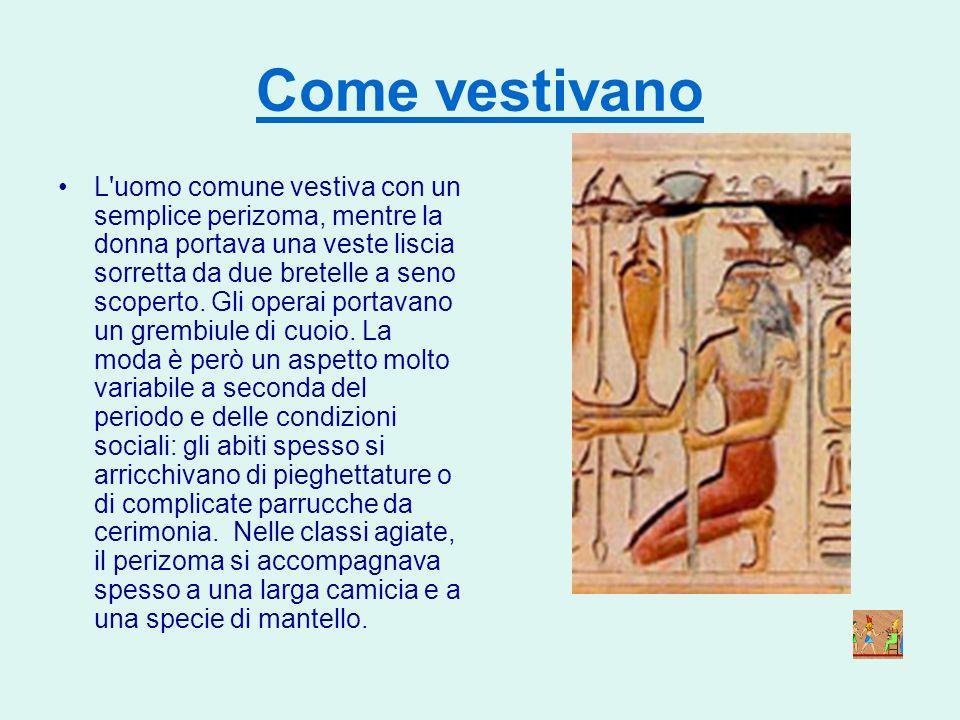 I contadini Gli antichi Egizi erano per lo più contadini. Vivevano nella Terra Nera, nei villaggi e nelle cittadine lungo le rive del Nilo. Costruivan
