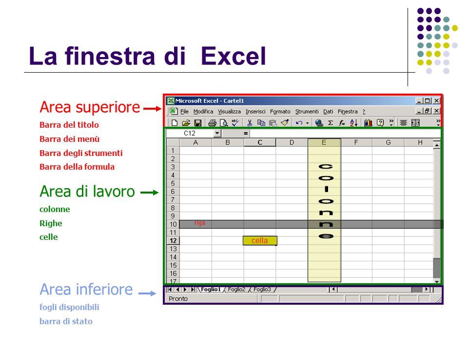 Formattazione di una tabella La finestra Formato celle Indipendentemente dalla modalità di attivazione del comando, il sistema presenta la finestra Formato celle che è divisa in 5 schede: Numero; Allineamento; Carattere; Bordo; Motivo; Protezione.