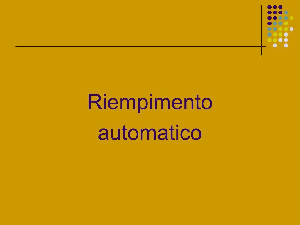 Riempimento automatico