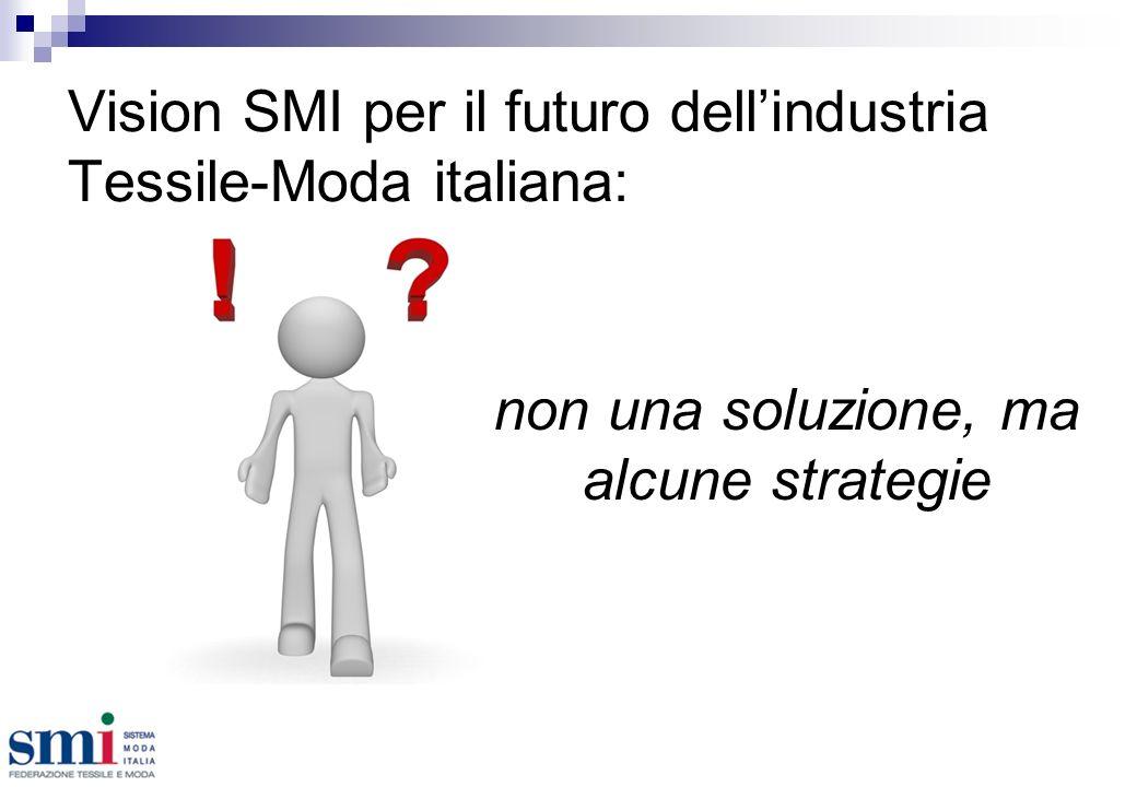 Vision SMI per il futuro dellindustria Tessile-Moda italiana: non una soluzione, ma alcune strategie