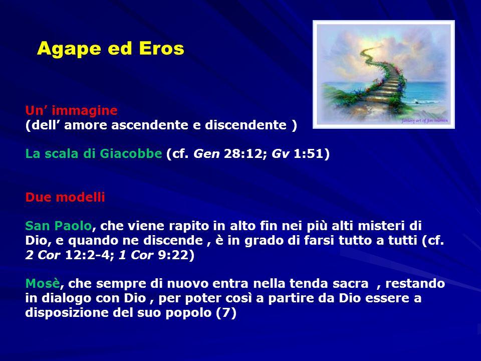 Un immagine (dell amore ascendente e discendente ) La scala di Giacobbe (cf. Gen 28:12; Gv 1:51) Due modelli San Paolo, che viene rapito in alto fin n