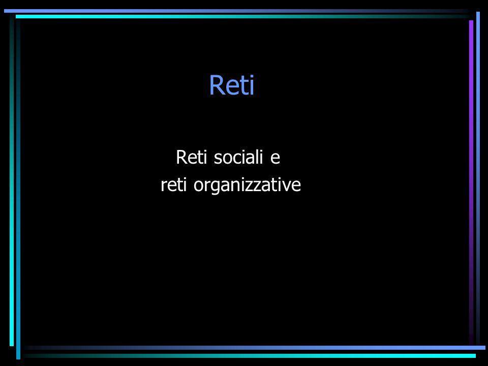 Reti Reti sociali e reti organizzative