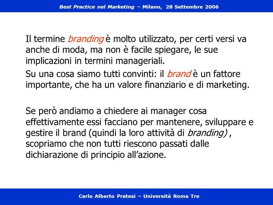 Carlo Alberto Pratesi – Università Roma Tre Quanto è giusto affidare a terzi parti consistenti del processo produttivo e distributivo.