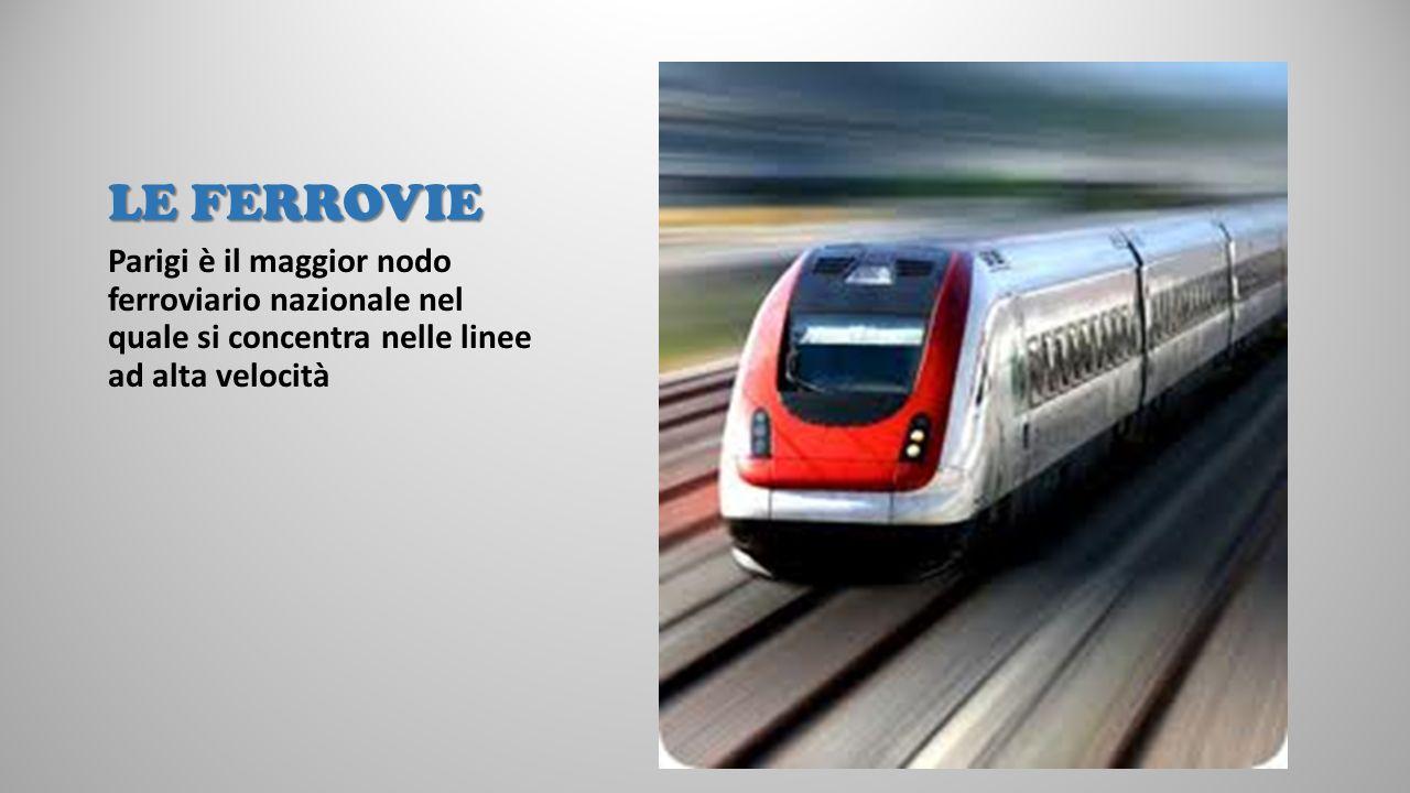 LE FERROVIE Parigi è il maggior nodo ferroviario nazionale nel quale si concentra nelle linee ad alta velocità