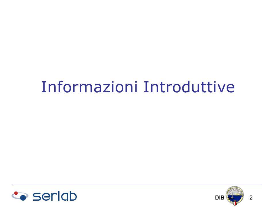 DIB 2 Informazioni Introduttive