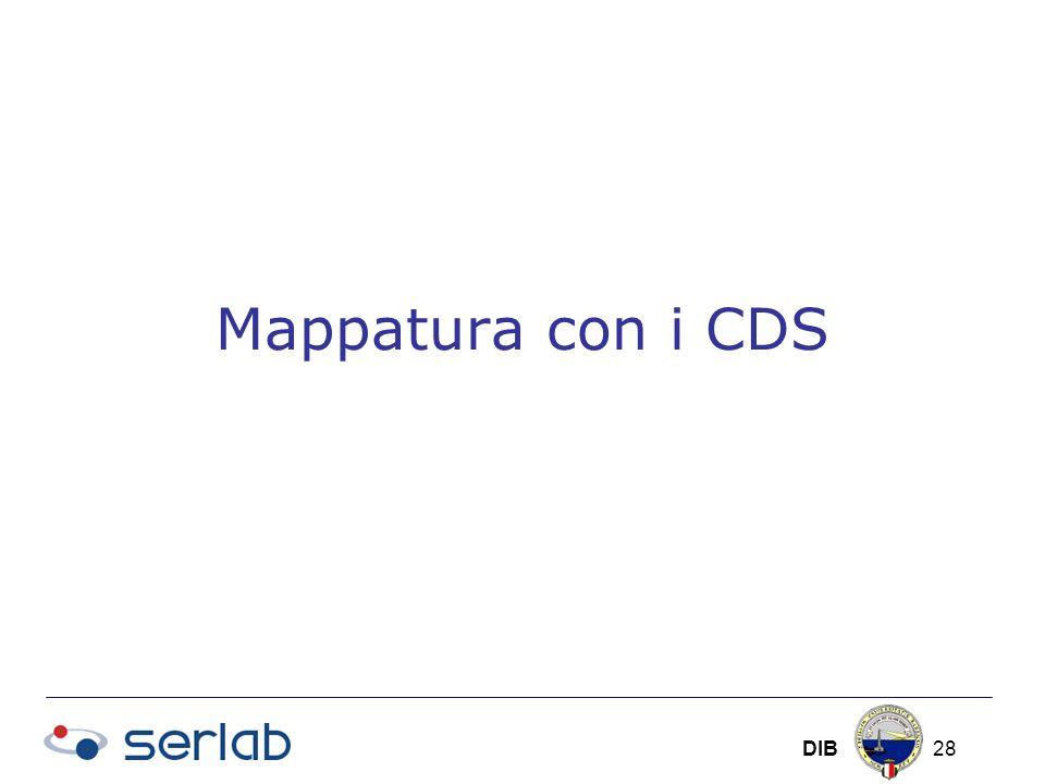 DIB 28 Mappatura con i CDS