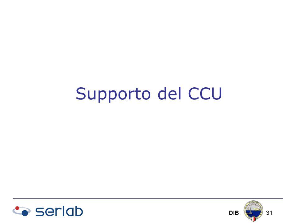 DIB 31 Supporto del CCU