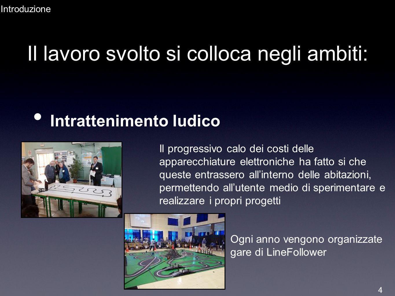 Il lavoro svolto si colloca negli ambiti: Intrattenimento ludico Introduzione Il progressivo calo dei costi delle apparecchiature elettroniche ha fatt