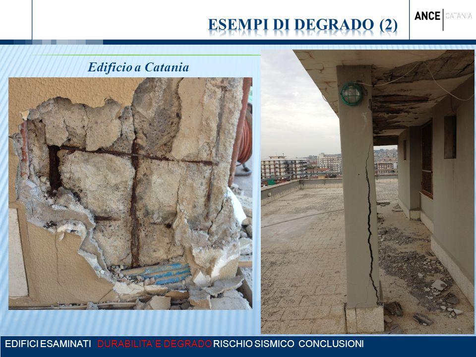 EDIFICI ESAMINATI DURABILITA E DEGRADO RISCHIO SISMICO CONCLUSIONI Edificio a Catania