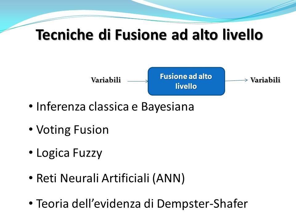 Tecniche di Fusione ad alto livello VariabiliVariabili Fusione ad alto livello Inferenza classica e Bayesiana Logica Fuzzy Reti Neurali Artificiali (A