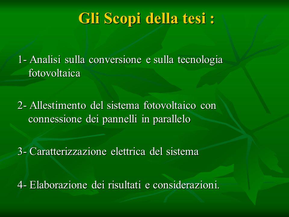 CONVERSIONE E TECNOLOGIA FOTOVOLTAICA Cosè leffetto fotovoltaico.