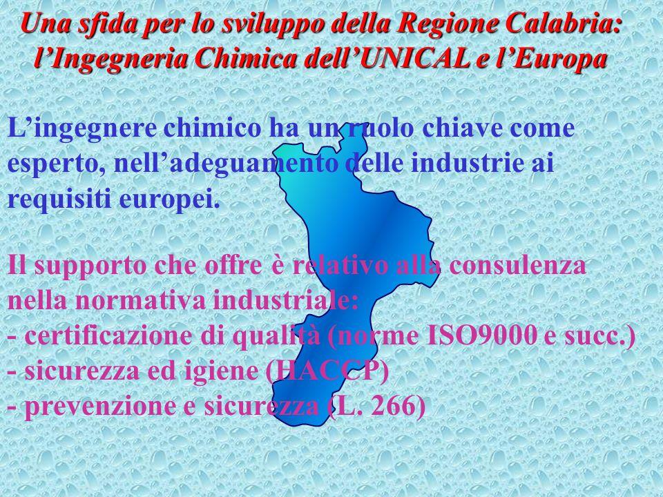 Una sfida per lo sviluppo della Regione Calabria: lIngegneria Chimica dellUNICAL e le realtà produttive Industria alimentare conserviera (essiccazione