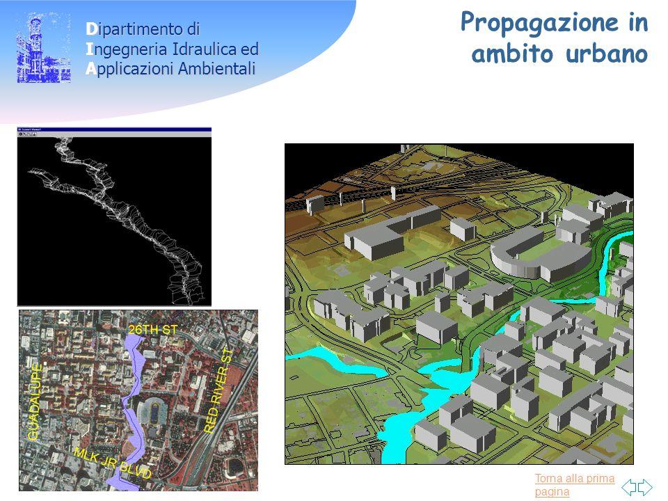 Torna alla prima pagina Dipartimento di Ingegneria Idraulica ed Applicazioni Ambientali Propagazione in ambito urbano
