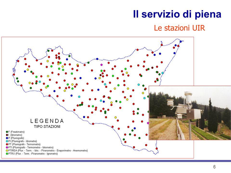 6 Le stazioni UIR Il servizio di piena