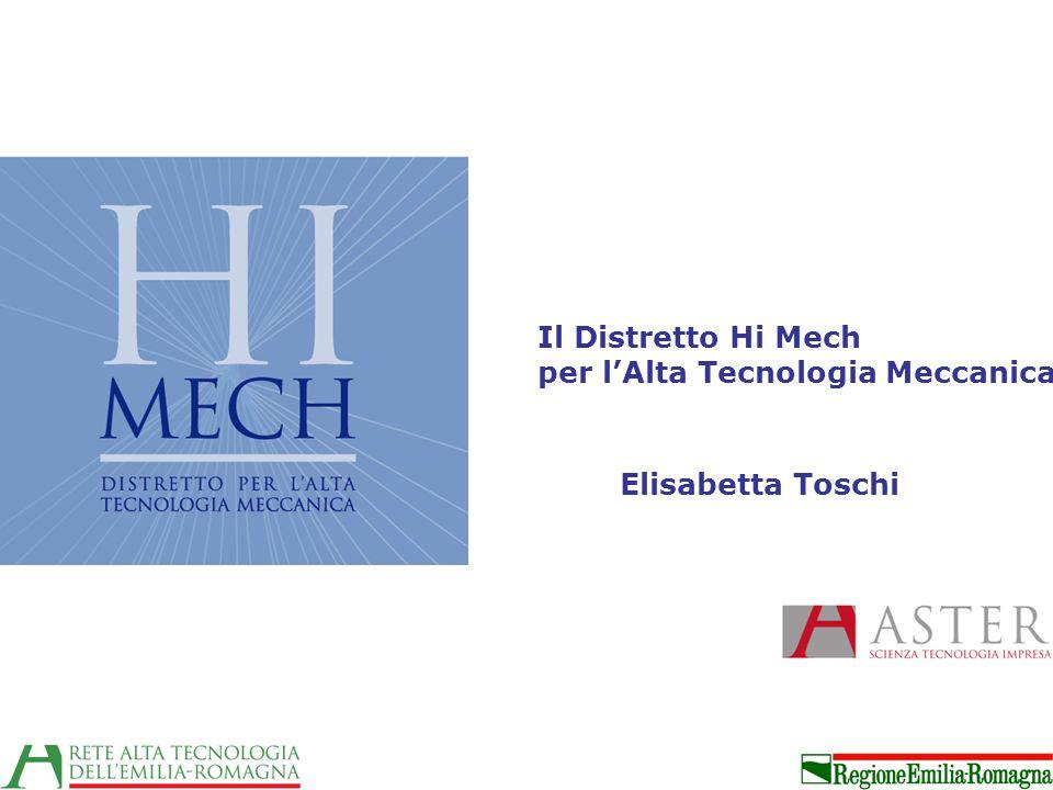 Il Distretto Hi Mech per lAlta Tecnologia Meccanica Elisabetta Toschi